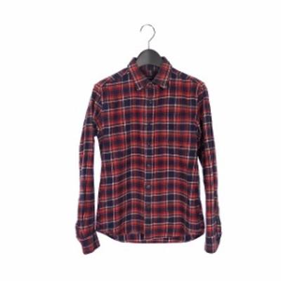 【中古】レイジブルー RAGEBLUE チェック柄 ロングスリーブシャツ トップス 長袖 S ネイビー/レッド 紺 赤 RB020292SB