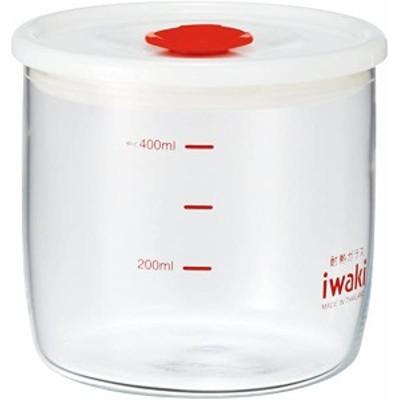 iwaki(イワキ) 耐熱ガラス 密閉容器 キャニスター 径10×高さ9cm 400ml KT7014MP-R