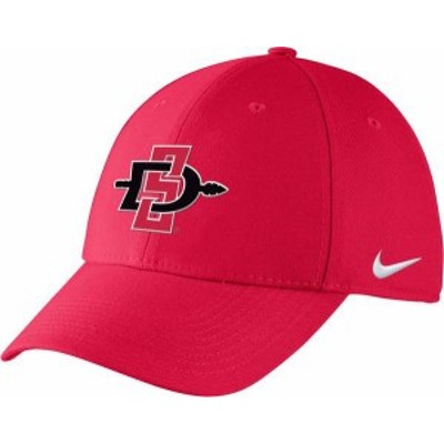 ナイキ メンズ 帽子 アクセサリー Nike Men's San Diego State Scarlet Adjustable Hat -