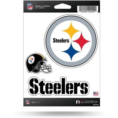 NFL Triple Spirit ステッカー マルーン ホワイト ブラック チームステッカー 3枚セット 3 Team Stickers 並行輸入品