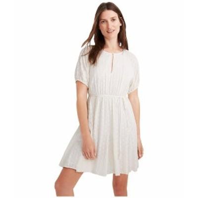 メイドウェル レディース ワンピース トップス Eyelet Tassel-Tie Mini Dress Lighthouse