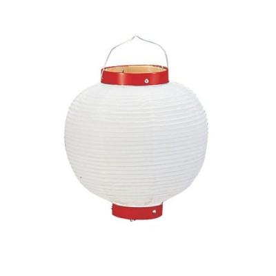 ビニール提灯丸型 《9号》 白ベタ b48 (YTY0291M)