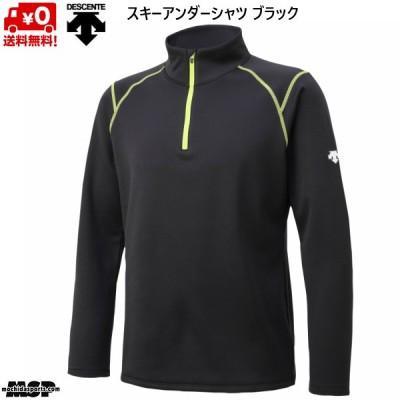 デサント フリース スキー アンダーシャツ ハーフジップ ブラック DESCENTE  DWMQJB62-BLK