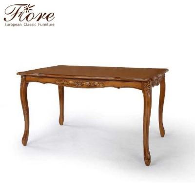 ダイニングテーブル 135cm 猫脚 机 テーブル フィオーレ 茶 クラシック ロココ調 高級 ヨーロピアン イタリアン アンティーク 家具