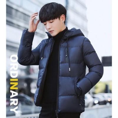 ダウンコート メンズ ショート丈 FIMDY15184 ダウンジャケット 無地 中綿ジャケット 大きいサイズ 防寒 防風 高品質 暖かい オフィス 通