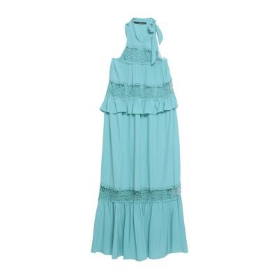 アンナリータ エンネ ANNARITA N ロングワンピース&ドレス ライトグリーン 42 アセテート 65% / シルク 35% ロングワンピース