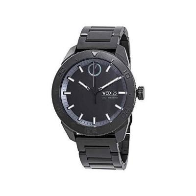 Movado Men's Bold 44mm Black Steel Bracelet Case Quartz Analog Watch 360051