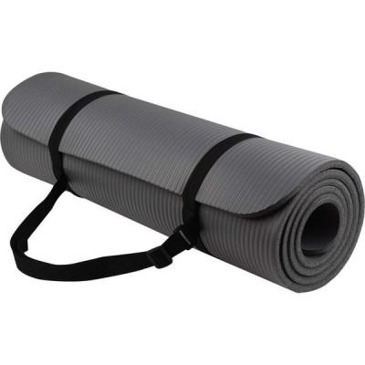 バランスフローム BalanceFrom Fitness レディース ヨガ・ピラティス ヨガマット Go Yoga All Purpose Anti-Tear Exercise Yoga Mat Gray