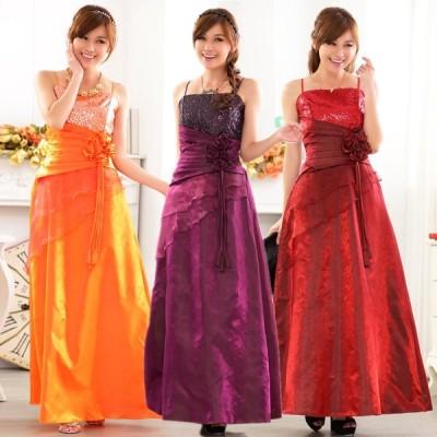 パーティードレス 大きいサイズ ぽっちゃり 送料無料 結婚式 ワンピース ロングドレス キャミドレス フォーマル F/2L/3L/4L 9717