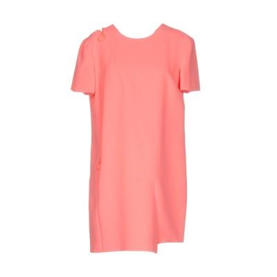 VERSACE ミニワンピース&ドレス サーモンピンク 40 シルク 100% ミニワンピース&ドレス