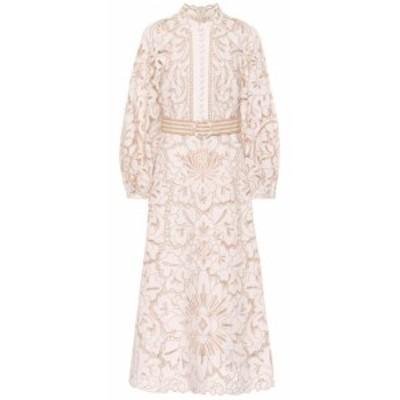 ジマーマン Zimmermann レディース ワンピース ワンピース・ドレス Edie linen and cotton dress Ivory