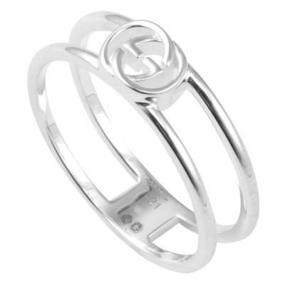 グッチ GUCCI 298036-J8400-8106 インターロッキングG シルバー オープンリング 指輪 INTERLOCKING G 11号 日本サイズ10号相当