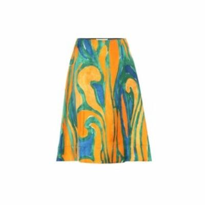 マルニ Marni レディース ひざ丈スカート スカート Printed silk skirt Alkekengi