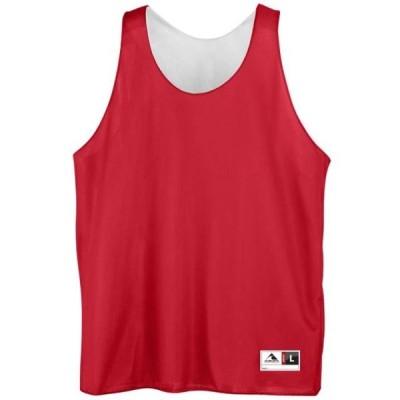 ユニセックス 衣類 トップス Augusta REVERSIBLE MINI MSH LEAGUE TNK RED/WHI L タンクトップ