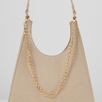 レディース アクセサリー PCSTELLA CROSS BODY KEY - Handbag - ivory cream/gold
