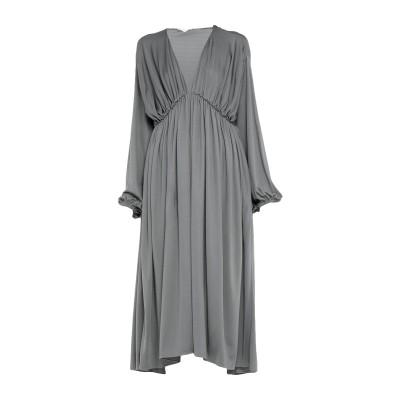 THE ROW 7分丈ワンピース・ドレス グレー S レーヨン 83% / シルク 17% 7分丈ワンピース・ドレス
