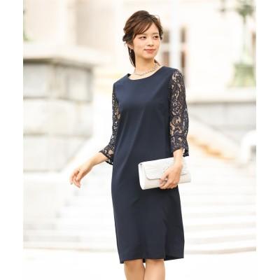 袖レースワンピースドレス (ワンピース)Dress