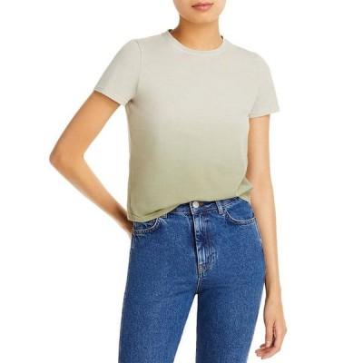 アリスアンドオリビア レディース Tシャツ トップス Cindy Cropped Cotton Tee