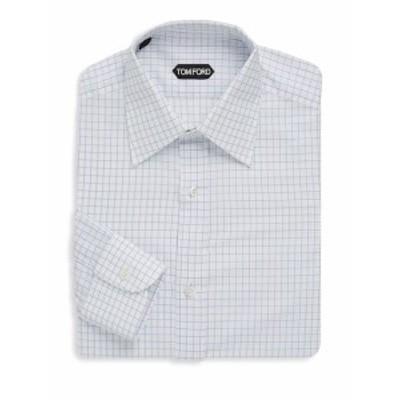 トムフォード メンズ ドレスシャツ ワイシャツ Grid-Print Dress Shirt