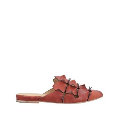I.N.K. Shoes ミュールサボ レンガ 37 革 ミュールサボ