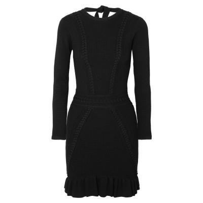 REBECCA VALLANCE ミニワンピース&ドレス ブラック 4 レーヨン 60% / ナイロン 32% / ポリウレタン 8% ミニワンピー