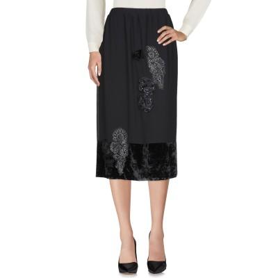 MARTA PALMIERI 7分丈スカート ブラック 44 ポリエステル 100% 7分丈スカート