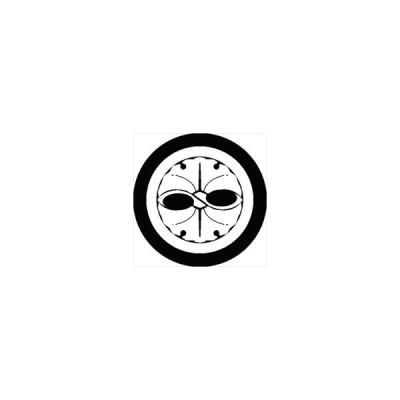 家紋シール 中村銀杏紋 直径15cm 丸型 白紋 KS15M-2292W