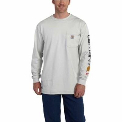 カーハート Carhartt メンズ 長袖Tシャツ トップス Flame Resistant Force Cotton Graphic LS T-Shirt Light Grey