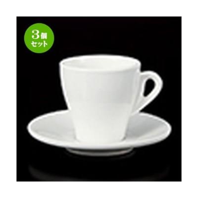3個セット 碗皿 洋食器 / テクノスミラノコーヒーC/S 寸法:皿 14 x 2cm