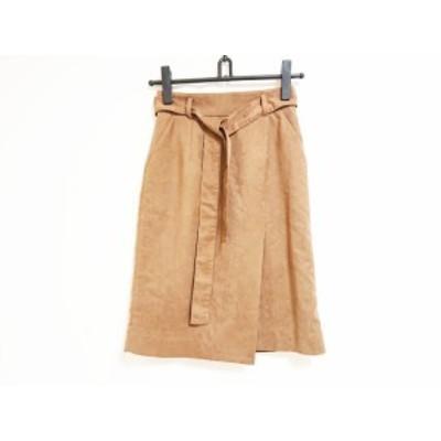 ジャスグリッティー JUSGLITTY スカート サイズ0 XS レディース ブラウン【中古】20190728