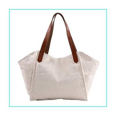 【新品】RunFu Original Women's Tops Handle Simple Style Vintage Canvas Bag Handbag Shopping Bag Lady Girl student, Beige, Free(並行輸入品