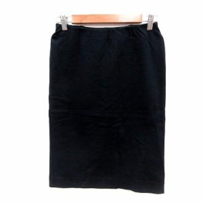 【中古】ドゥーズィエムクラス DEUXIEME CLASSE タイトスカート ひざ丈 38 黒 ブラック /MN レディース