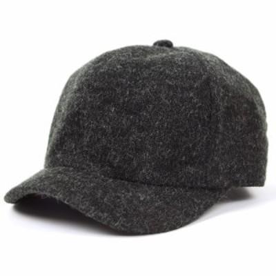 BIGWATCH正規品 大きいサイズ 帽子 メンズフランネル アンパイアキャップ チャコールグレー/ビッグサイズ/ビッグワッチ/無地/キャップ  C