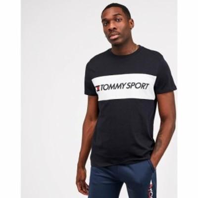 トミーヒルフィガー Tommy Sport メンズ Tシャツ トップス Panel Logo T-Shirt Desert Sky