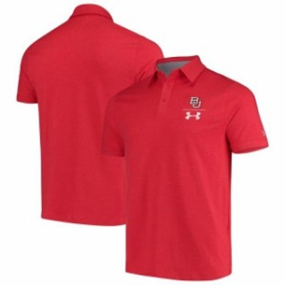 Under Armour アンダー アーマー スポーツ用品  Boston University Under Armour Charged Cotton Polo - Red