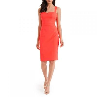 ダンセル Damsel in a Dress レディース ワンピース ワンピース・ドレス Vida Fitted Dress Fluoro Orange