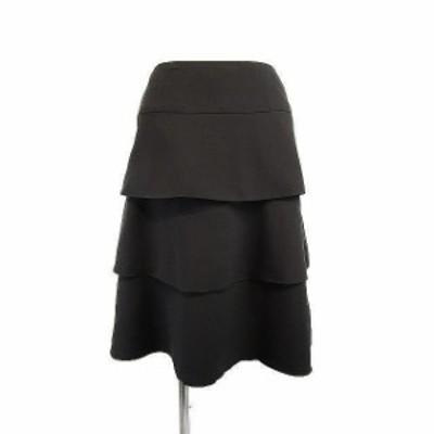 【中古】ブリジット BRIGITTE スカート ティアード ひざ丈 黒 9 日本製 レディース