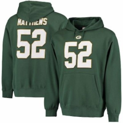 Majestic マジェスティック スポーツ用品  Majestic Clay Matthews Green Bay Packers Green Eligible Receiver II Name &