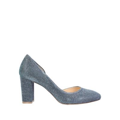 L'ARIANNA パンプス ブルー 38.5 紡績繊維 パンプス