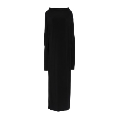 KAMALIKULTURE by NORMA KAMALI ロングワンピース&ドレス ブラック M ポリエステル 95% / ポリウレタン 5% ロ