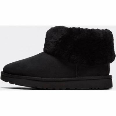 アグ Ugg レディース ブーツ シューズ・靴 Mini Fluff Boot Black