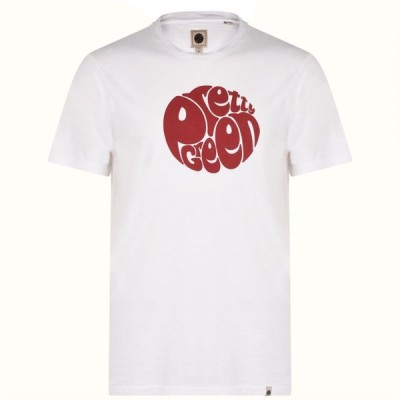 プリティー グリーン Pretty Green メンズ Tシャツ トップス T Shirt White