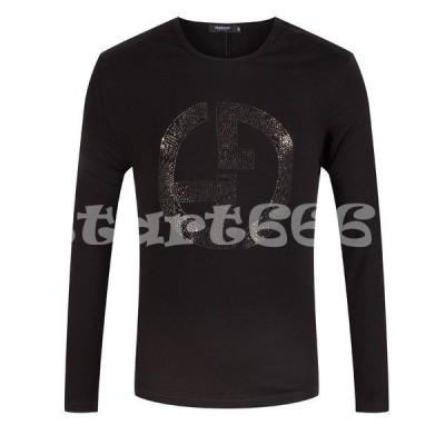 ロンT メンズ Tシャツ モテ服 トップス 大きいサイズ プリント 人気 長袖Tシャツ ltm001