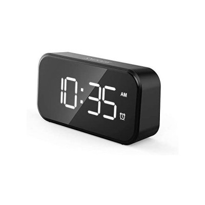目覚まし時計 5インチ大型LEDデジタル目覚まし時計 USBポート付き携帯電話充電器 0-100%調光器 タッチアクティベーション