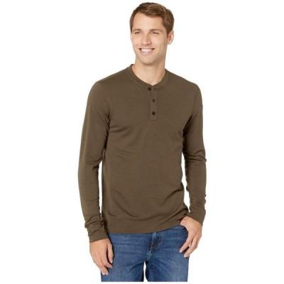 フェールラーベン Fjallraven メンズ Tシャツ ヘンリーシャツ トップス Singi Merino Henley Dark Olive