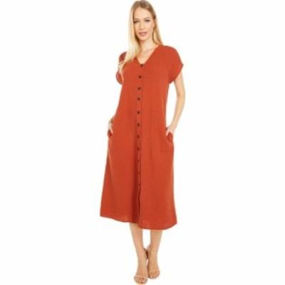 メイドウェル Madewell レディース ワンピース ミドル丈 ワンピース・ドレス Gauze Easy Midi Dress Faded Rust