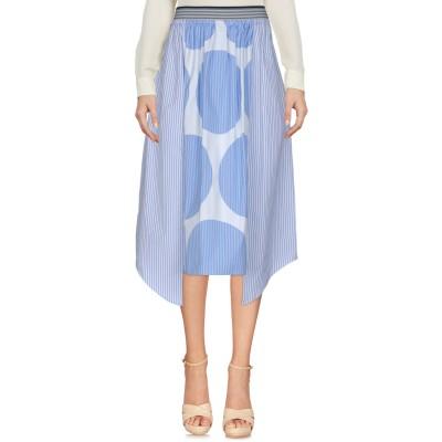 ステラ マッカートニー STELLA McCARTNEY ひざ丈スカート スカイブルー 40 コットン 100% ひざ丈スカート