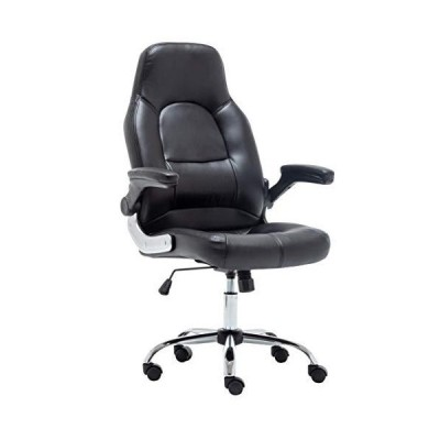 BTEXPERT Swivel Adjusable Black Home Office Gaming, Executive Flip Arms Chair