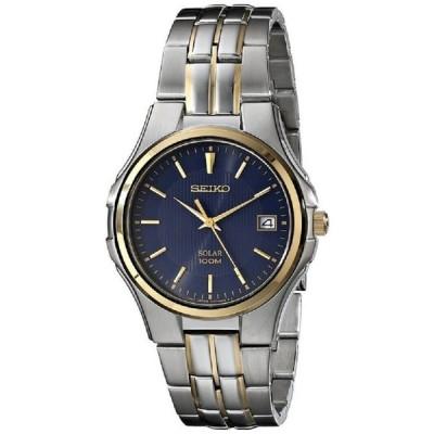 セイコー SNE124 メンズ ソーラー ツー デート ディスプレイ ブルー ダイヤル 腕時計
