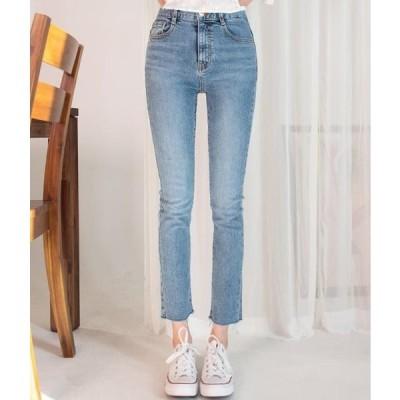 MIXXMIX レディース ジーンズ ESSAY Raw Hem Cropped Jeans